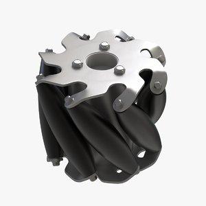 3D mecanum wheel model