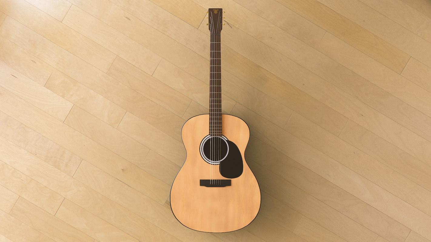 ash wood guitar 3D model