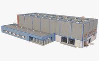 3D industrial building