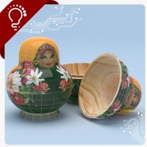 russian doll 3D model