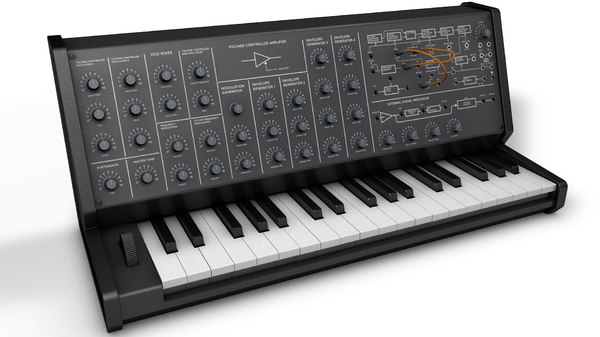3D korg mini synthesizer