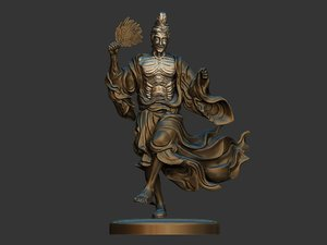 3D sculpture mad monk model