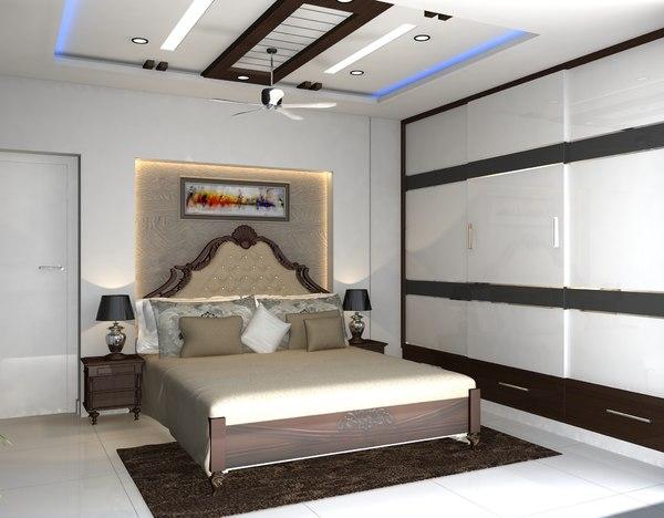 3D interior bedrooms