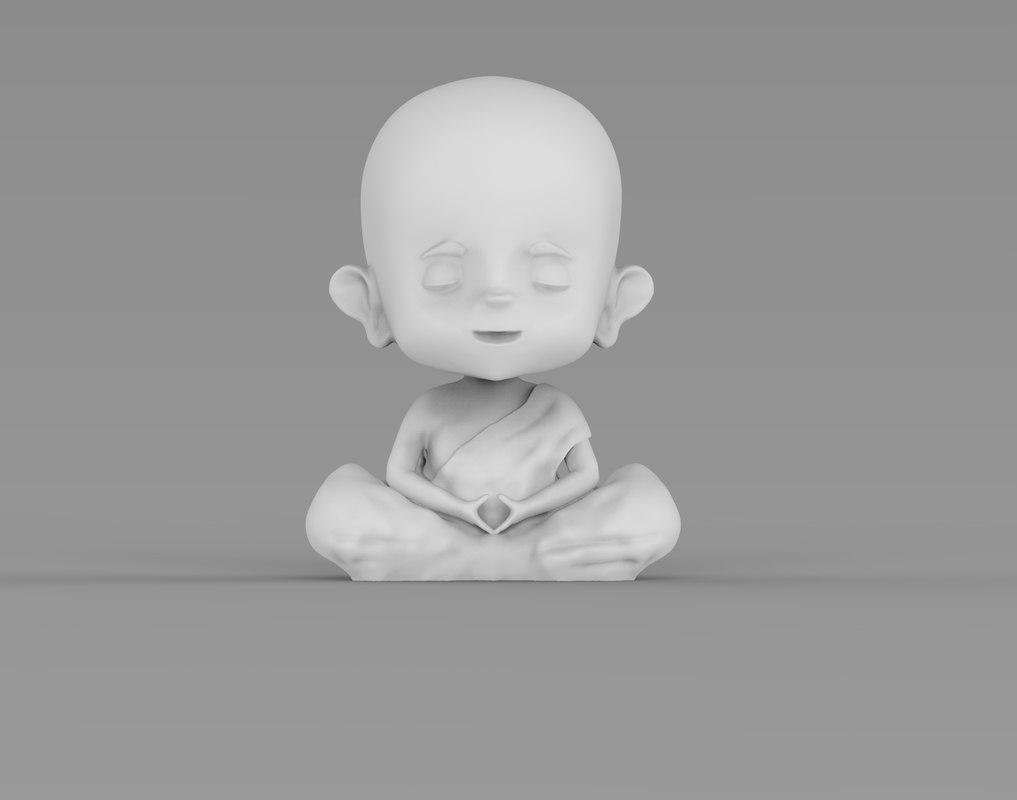 little buddha 3D model