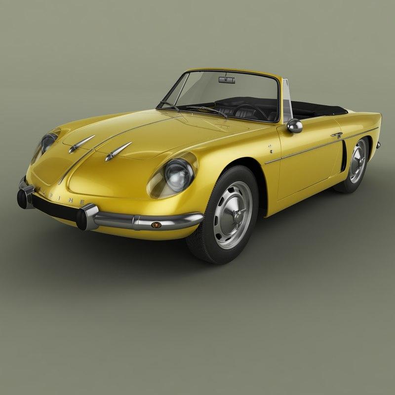 1961 renault alpine a108 3D