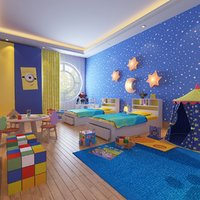 3D real kids interior room