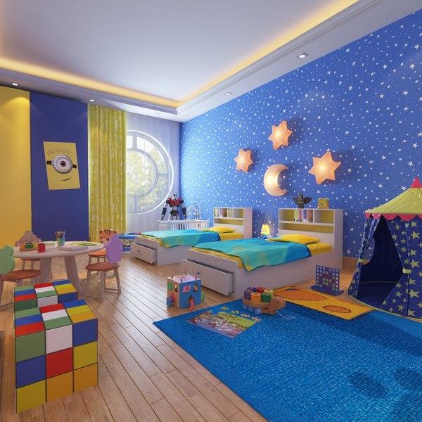 3d Real Kids Interior Room Turbosquid 1325638