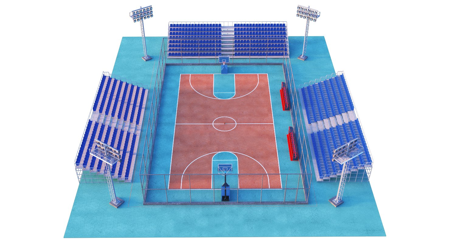 basketball court 3D model