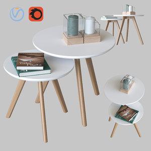 3D coffee tables signal milan model