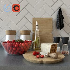 set kitchen tomatoes model