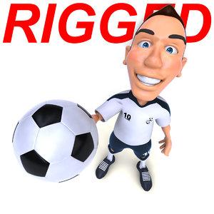 3D model fun football player