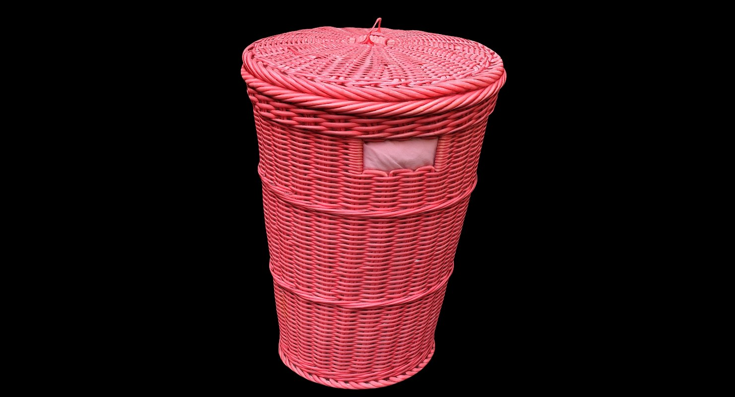 3D wicker storage baskets model