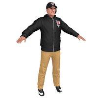 3D american football coach 1