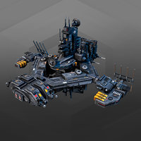 military space station 3D model