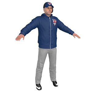3D american football coach