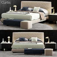3D minotti curtis bed model