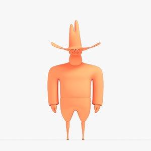3D model cowboy blender