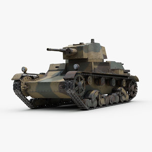 ww2 polish light tank 3D