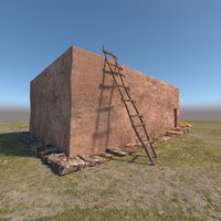 3D prehistoric neolithic house model