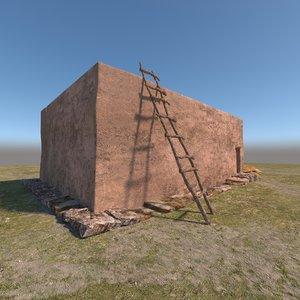 3D prehistoric neolithic house model