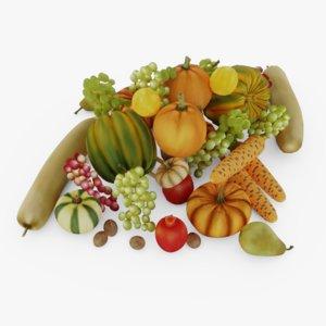 vegetable fruit 3D model