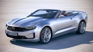 3D model chevrolet camaro convertible