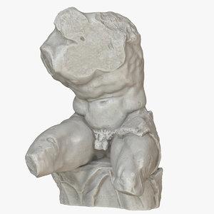 3D model belvedere torso
