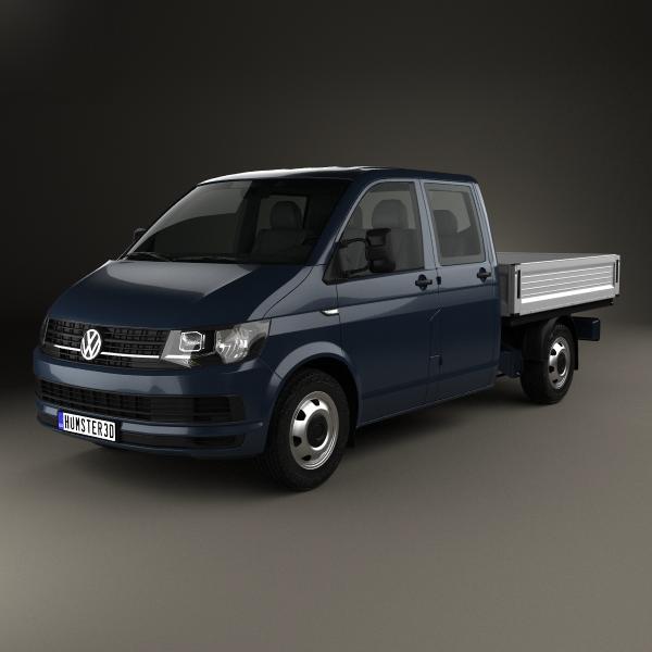 volkswagen transporter double 3D model
