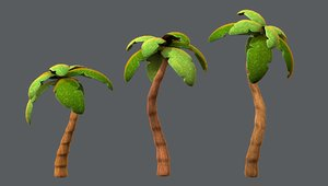 3D model trees cartoon v03