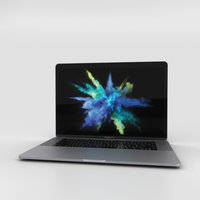 3D apple macbook mac model
