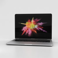 3D model apple macbook mac