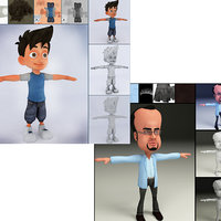 3D 2 cartn character