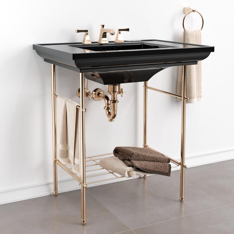 3D memoirs table bathroom sink model