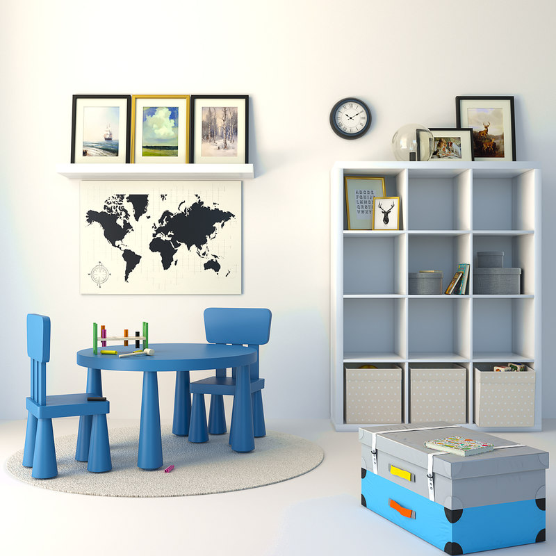 3D ikea furniture children set model