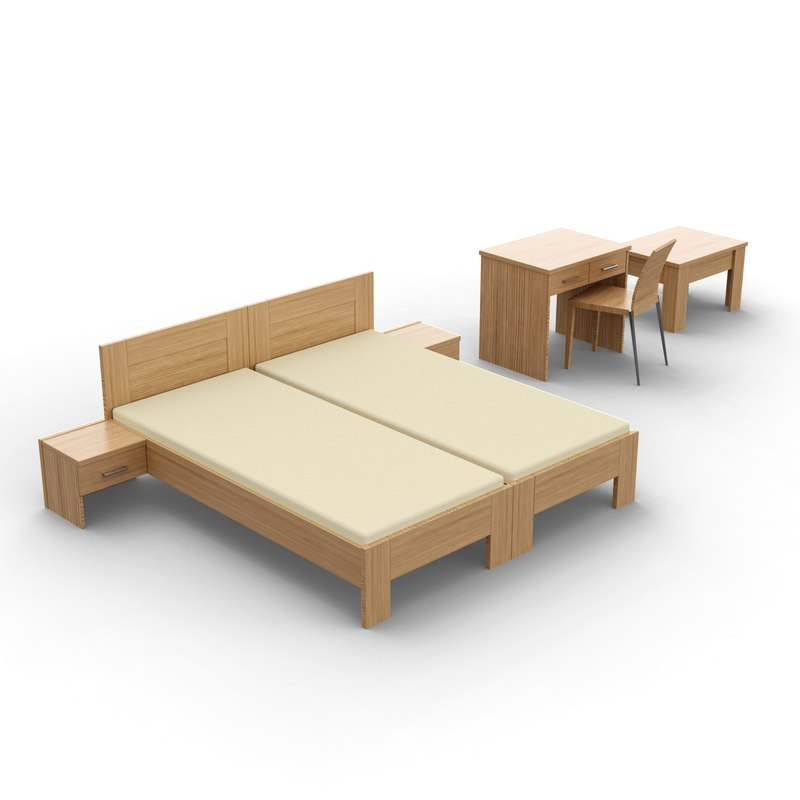 hotel bed table model