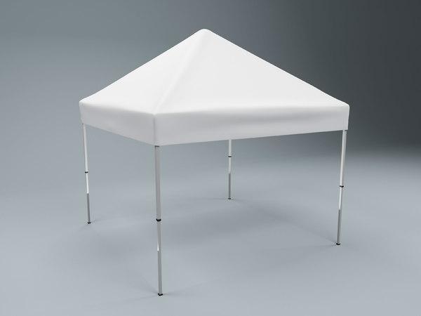 3D tent 4x4 modeled