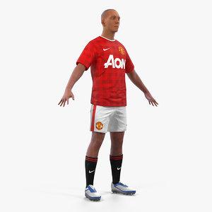 soccer football player united 3D