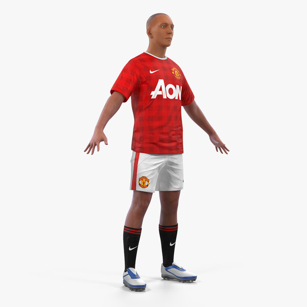 soccer football player united 3D