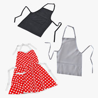3D aprons set kitchen