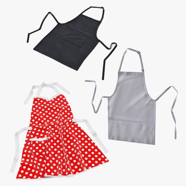 3D aprons set kitchen