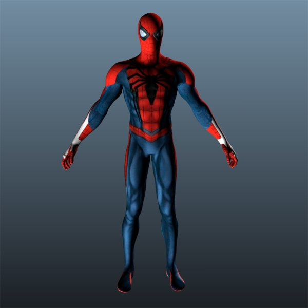 3D man spiderman spider