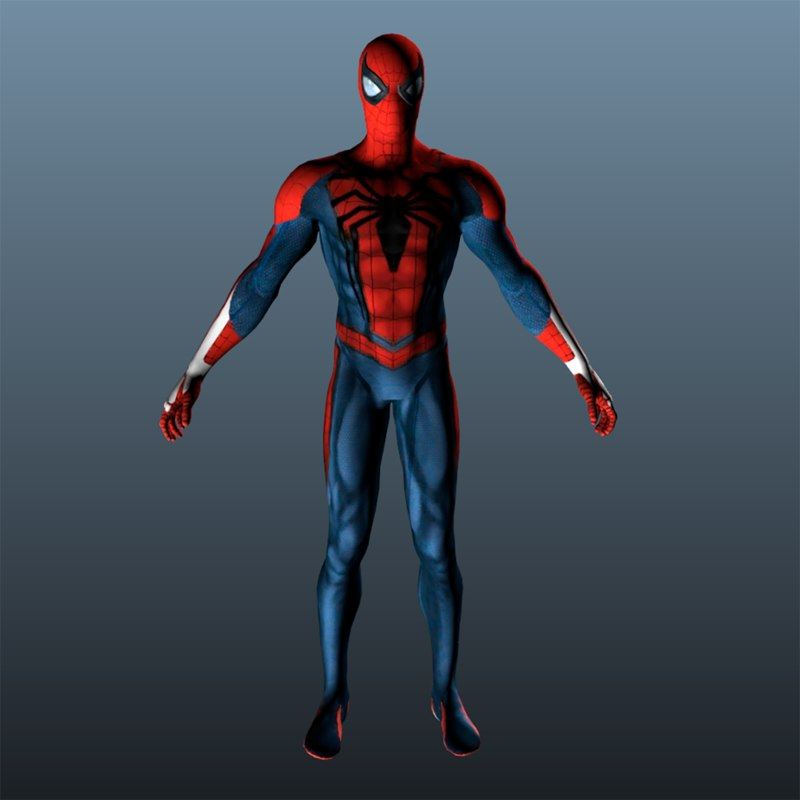 3D man spiderman spider