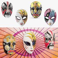 Asian Masks 3D Models Collection