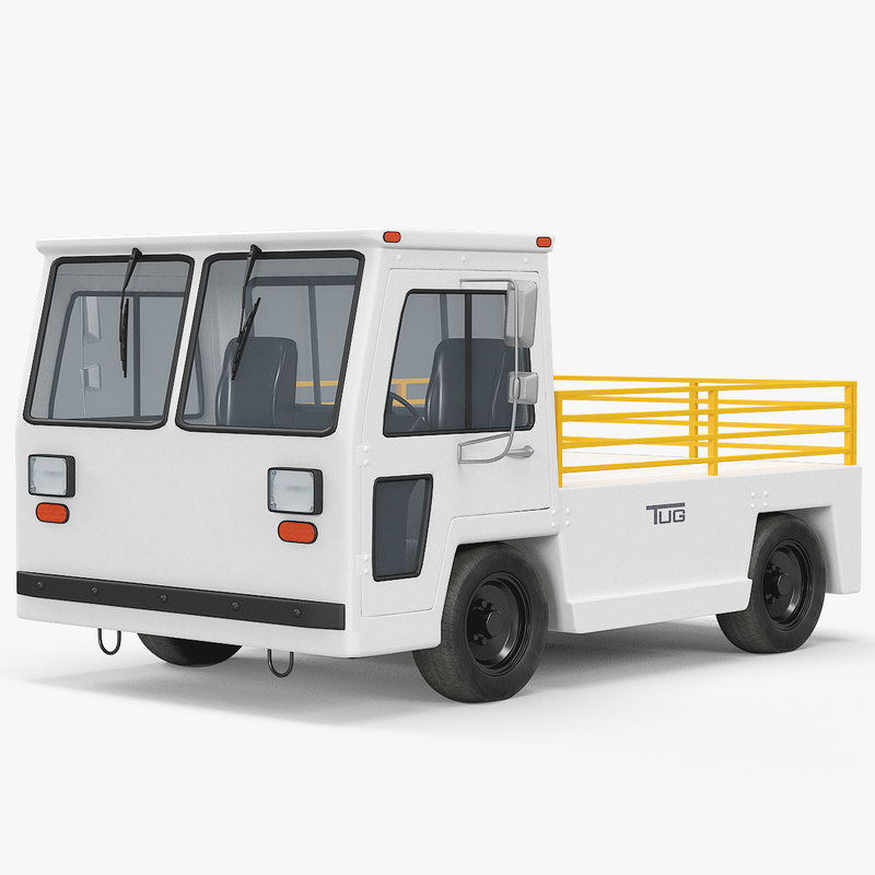 baggage towing tractor mh-50 3D model