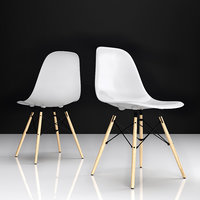 eames dsw plastic chair 3D model