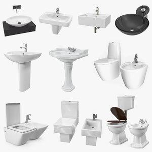 3D bathroom fixtures