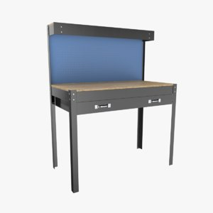 3D model workbench bench