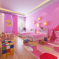 3D real girls interior room model