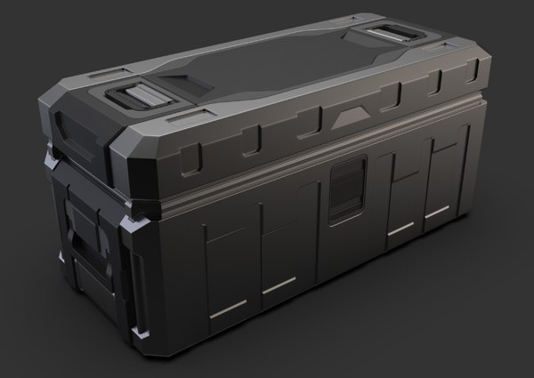 3D military crate