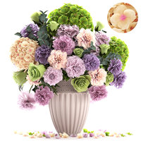 3D bouquet spring flowers